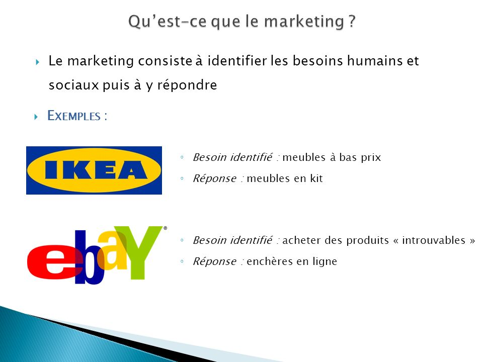 Qu'est-ce que le marketing