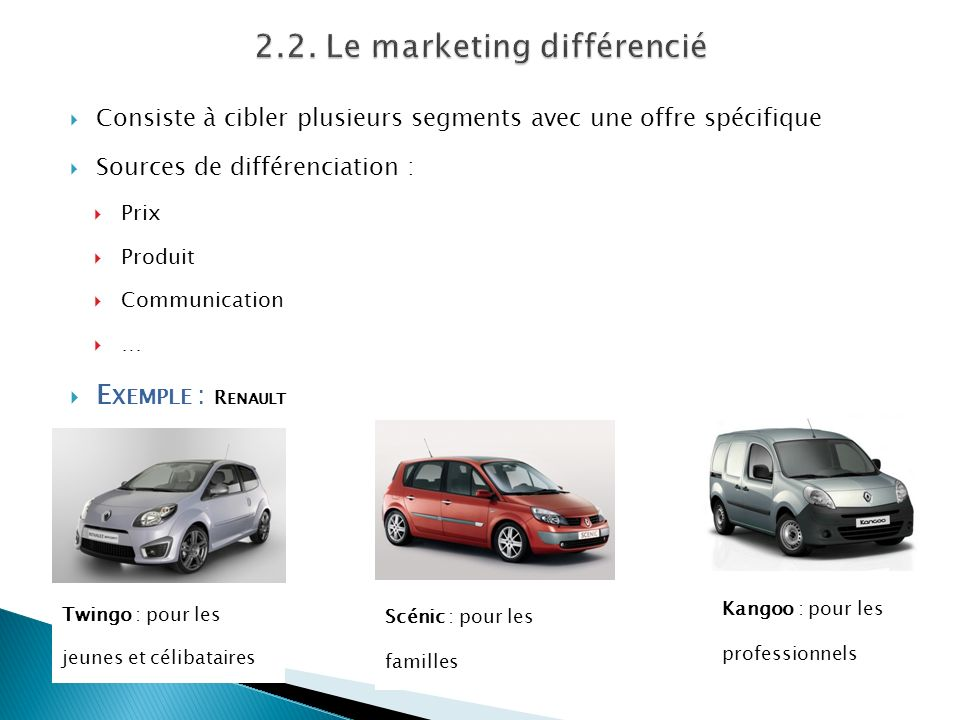 2.2. Le marketing différencié