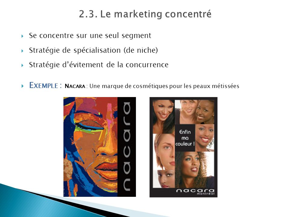 2.3. Le marketing concentré
