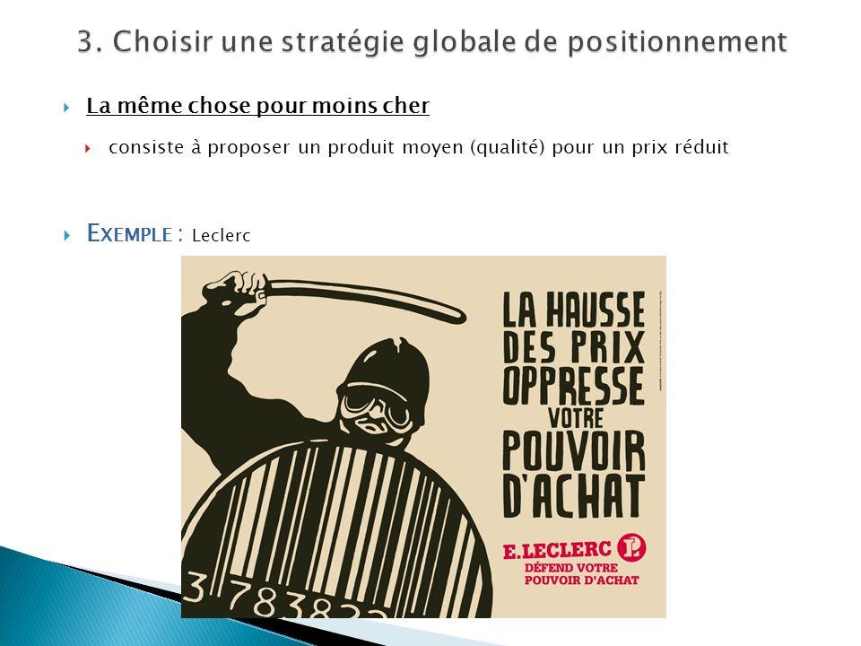 3. Choisir une stratégie globale de positionnement