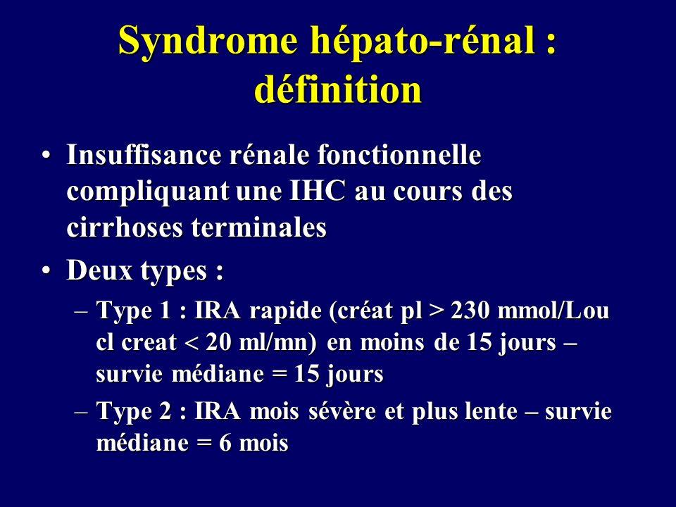 Syndrome hépato-rénal : définition