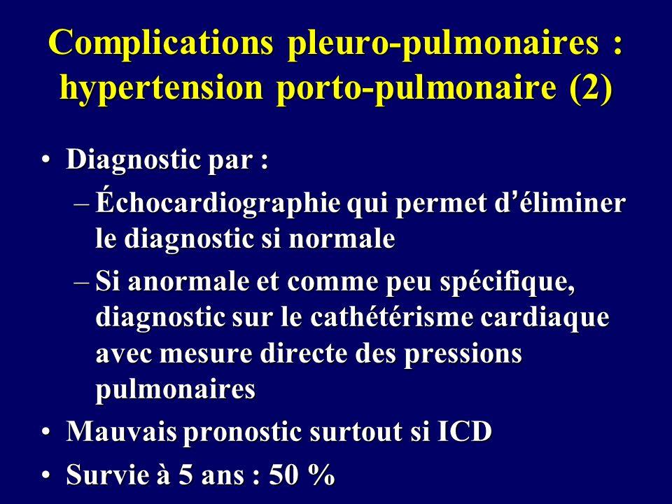 Complications pleuro-pulmonaires : hypertension porto-pulmonaire (2)
