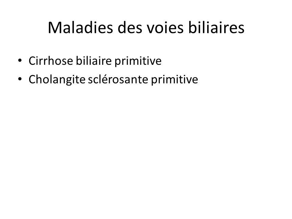 Maladies des voies biliaires