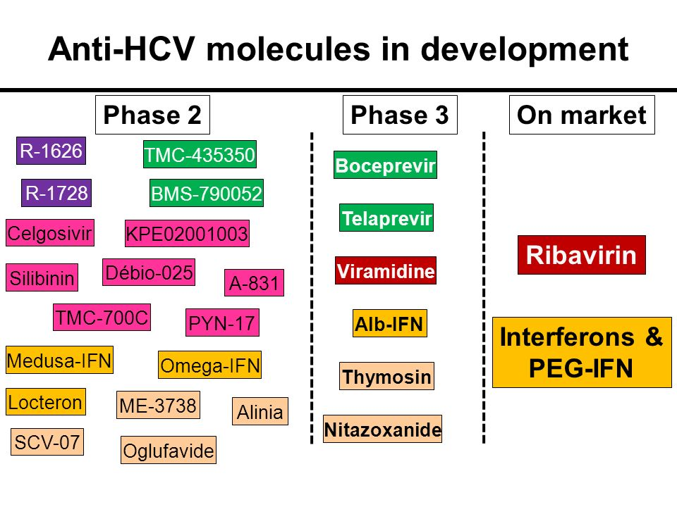 Anti-HCV molecules in development