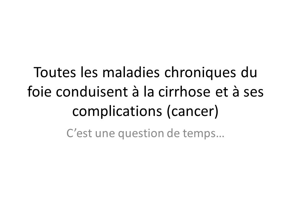 C'est une question de temps…