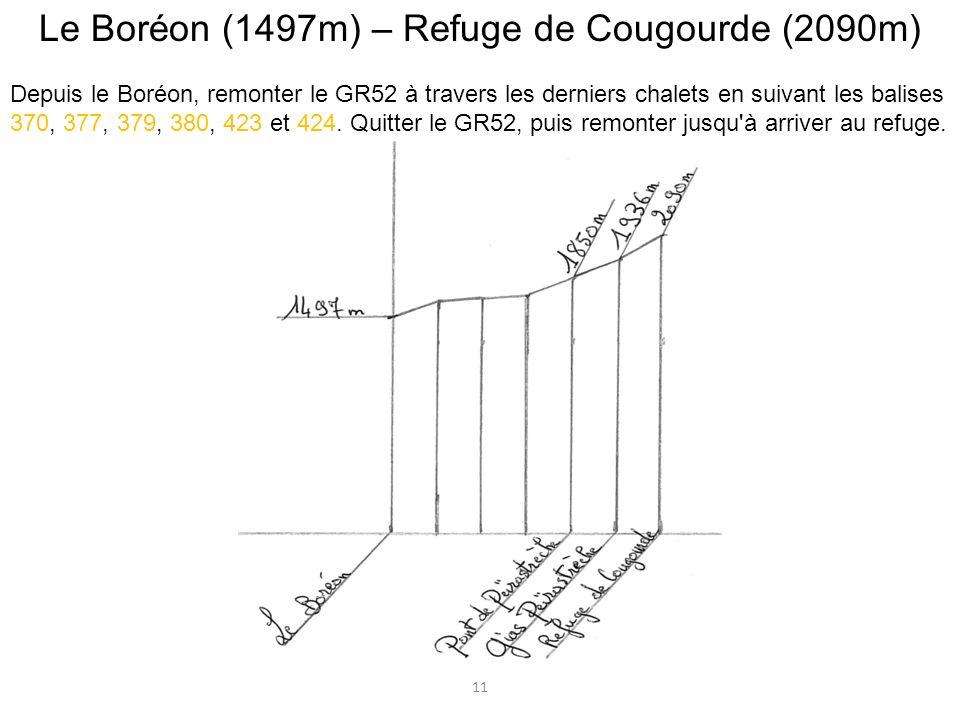 Le Boréon (1497m) – Refuge de Cougourde (2090m)