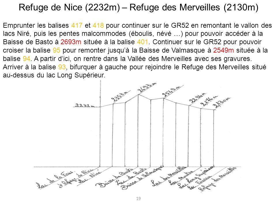 Refuge de Nice (2232m) – Refuge des Merveilles (2130m)