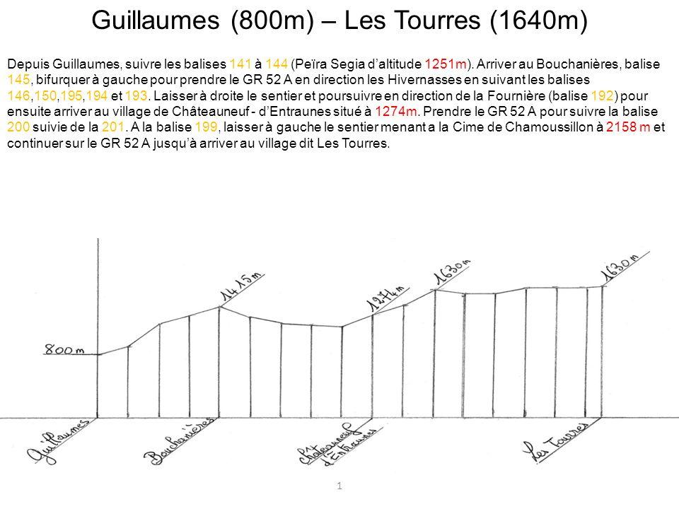 Guillaumes (800m) – Les Tourres (1640m)