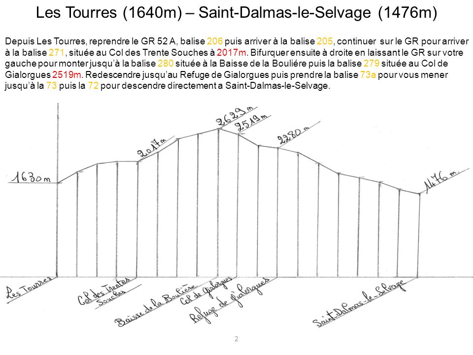 Les Tourres (1640m) – Saint-Dalmas-le-Selvage (1476m)