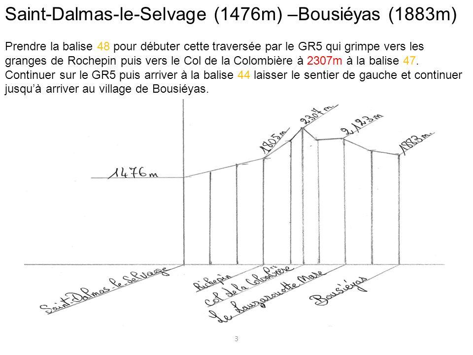 Saint-Dalmas-le-Selvage (1476m) –Bousiéyas (1883m)