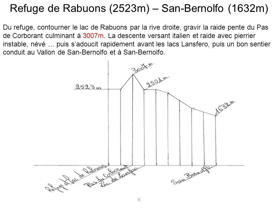 Refuge de Rabuons (2523m) – San-Bernolfo (1632m)