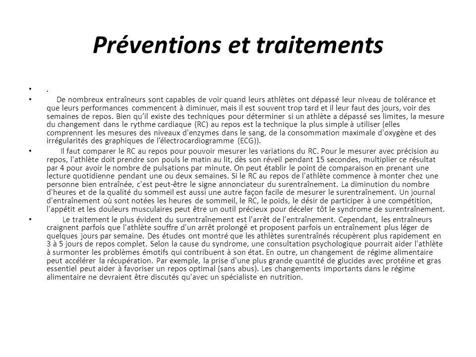 Préventions et traitements