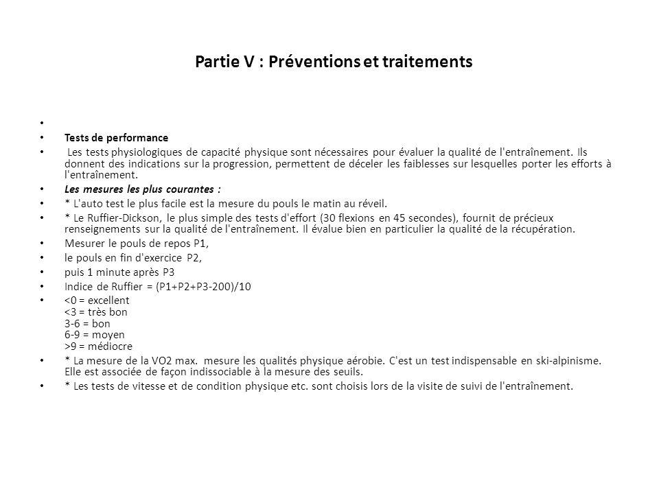 Partie V : Préventions et traitements
