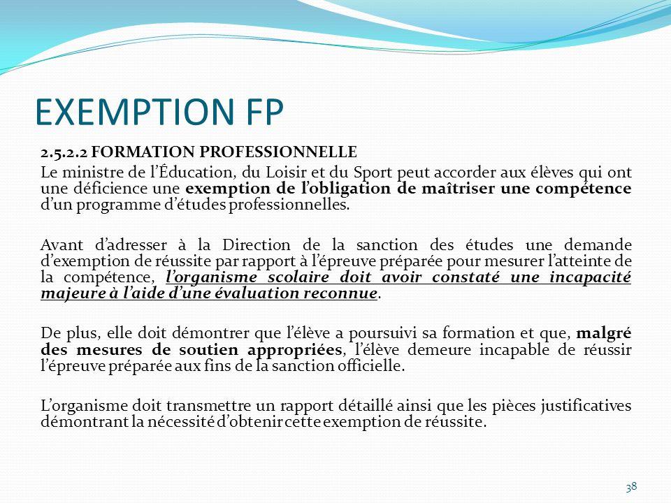 EXEMPTION FP