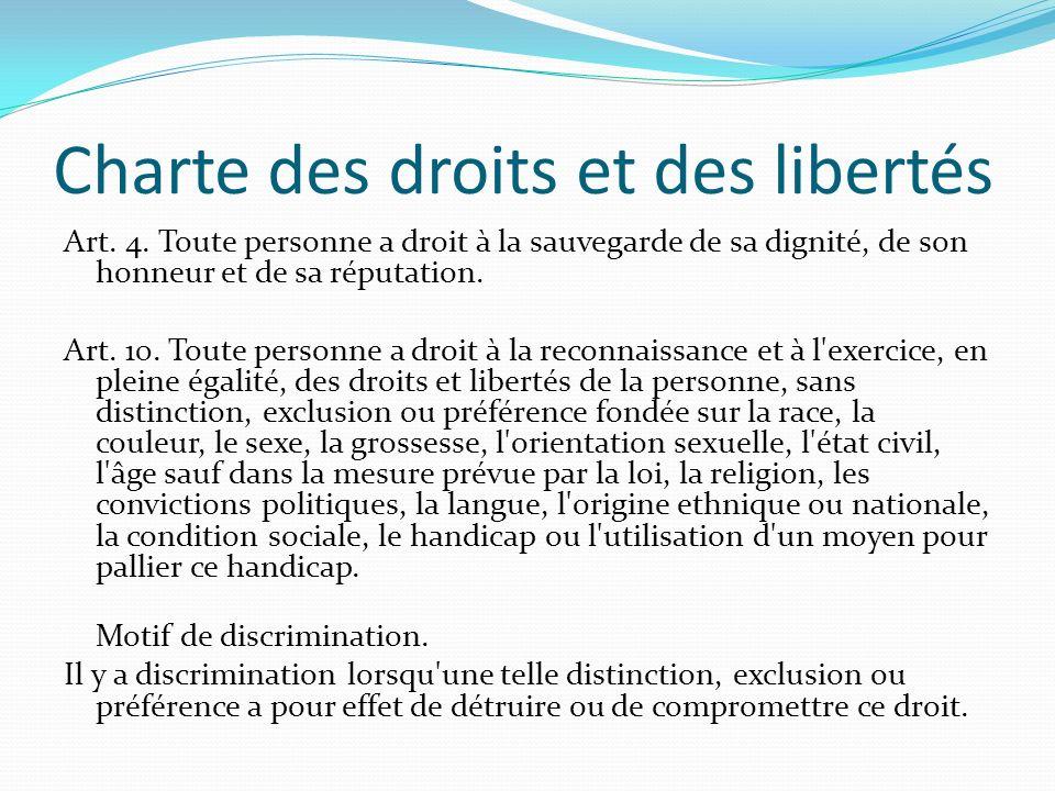 Charte des droits et des libertés