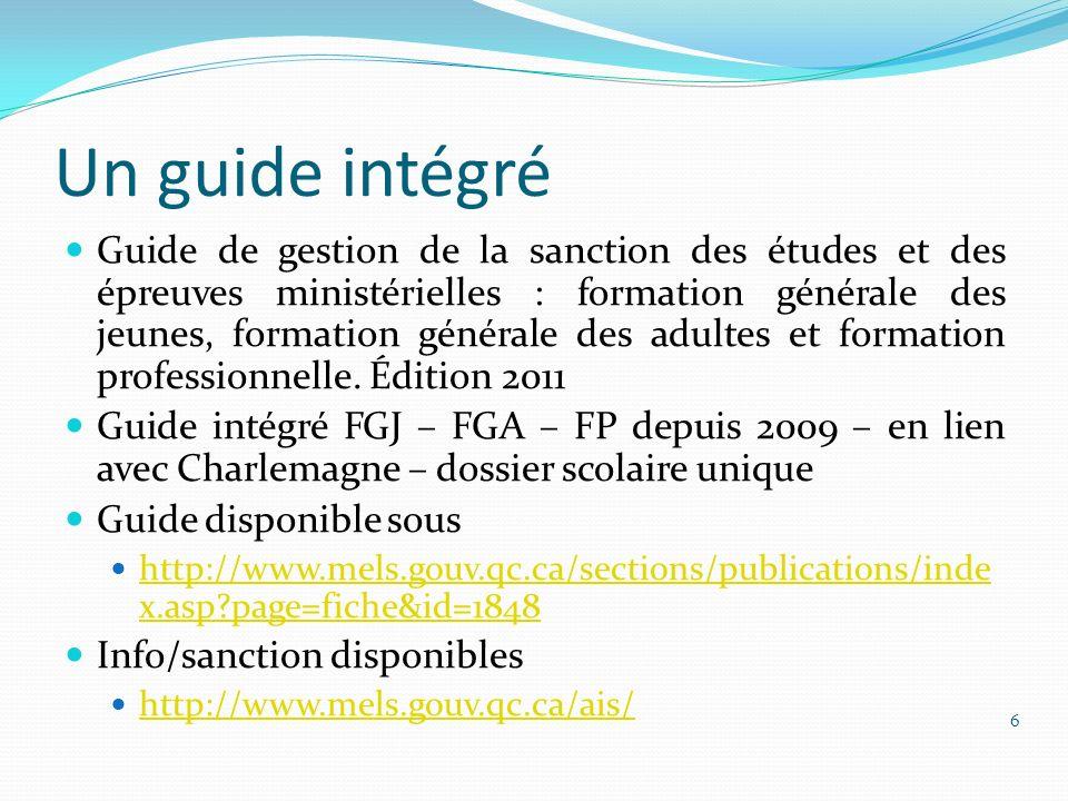 Un guide intégré
