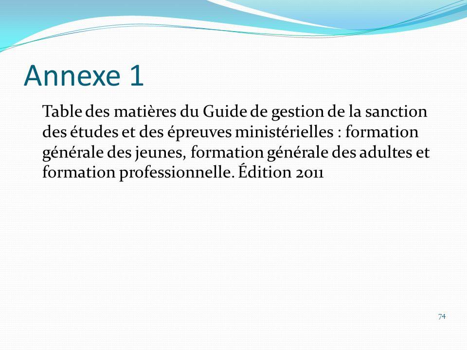 Annexe 1