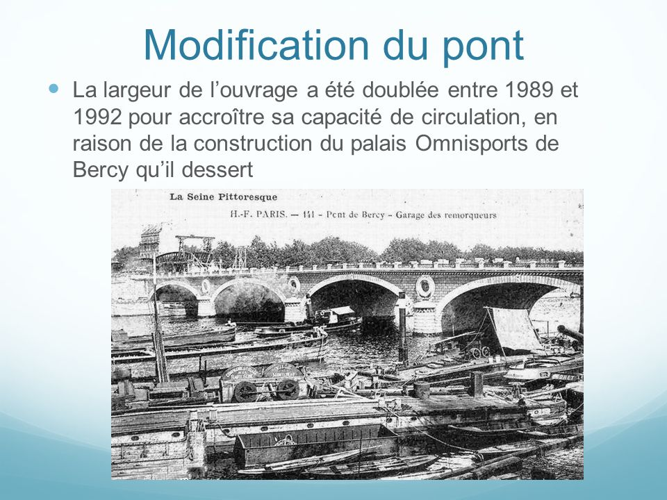 Modification du pont