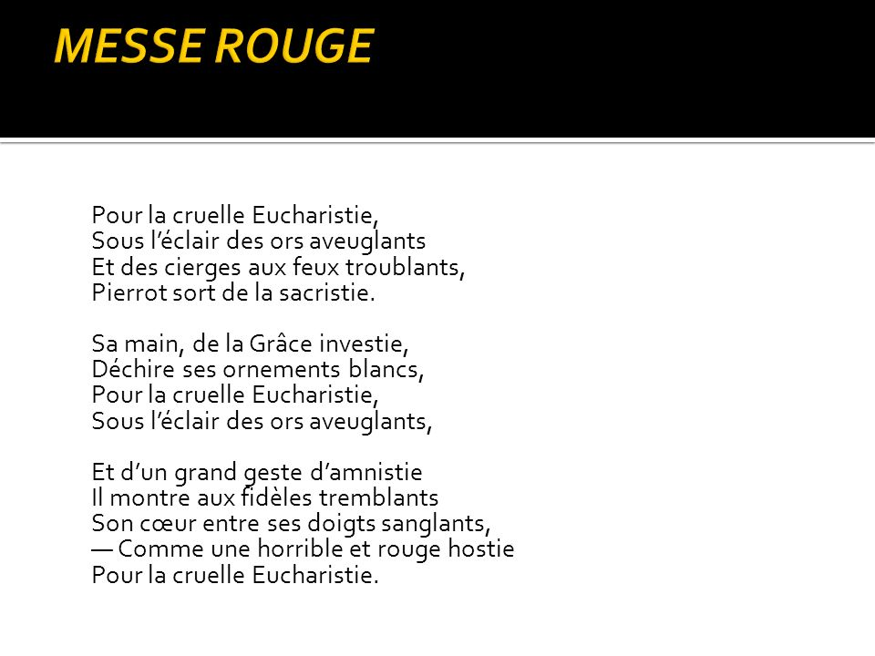 MESSE ROUGE