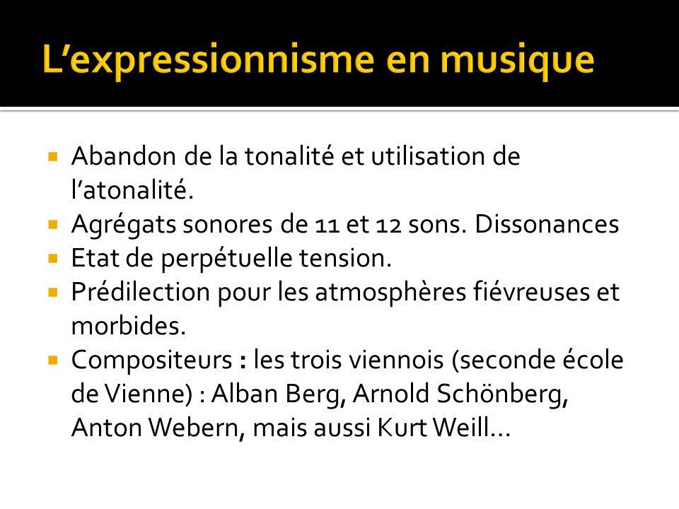 L'expressionnisme en musique