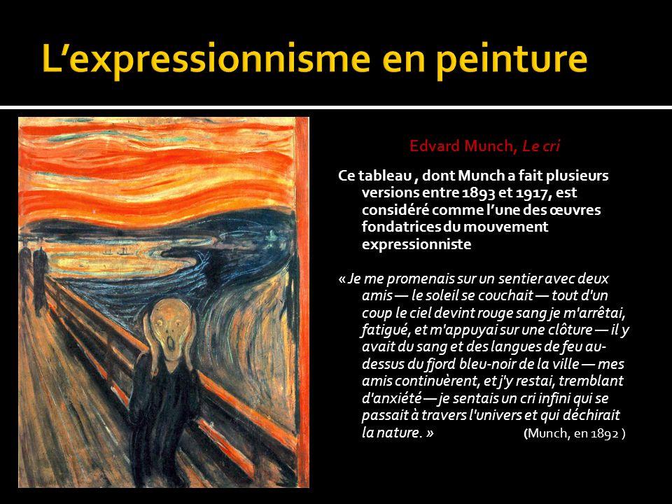 L'expressionnisme en peinture