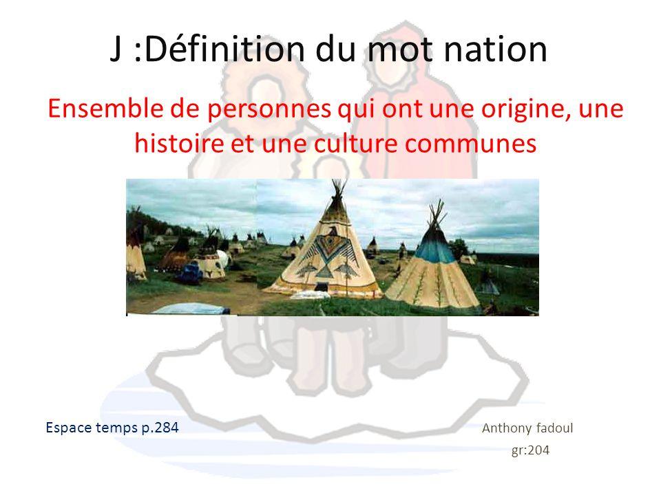 J :Définition du mot nation