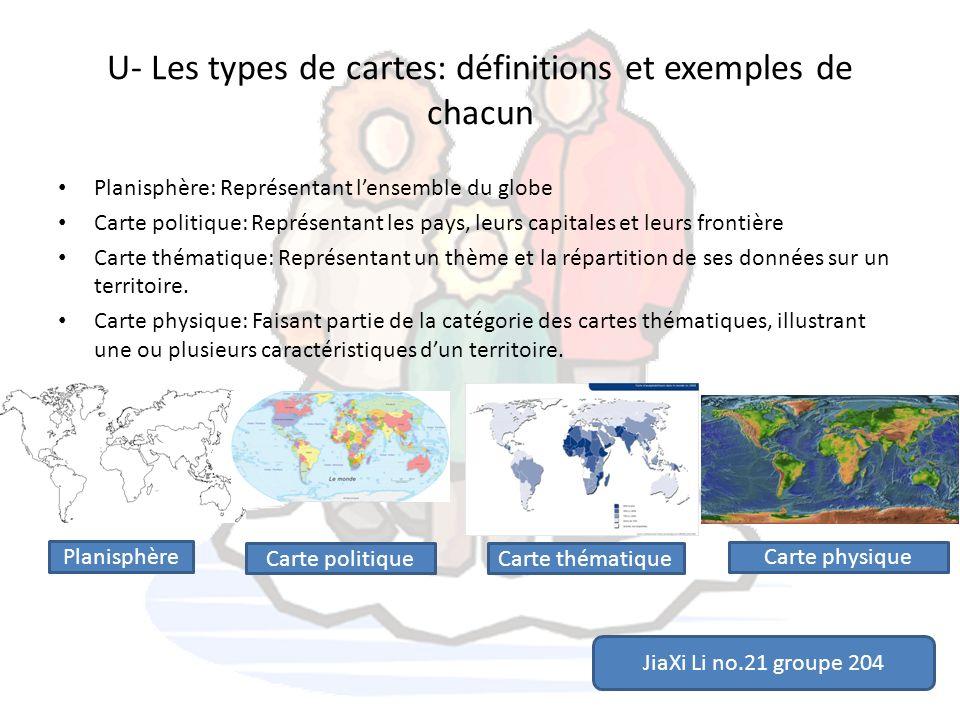U- Les types de cartes: définitions et exemples de chacun