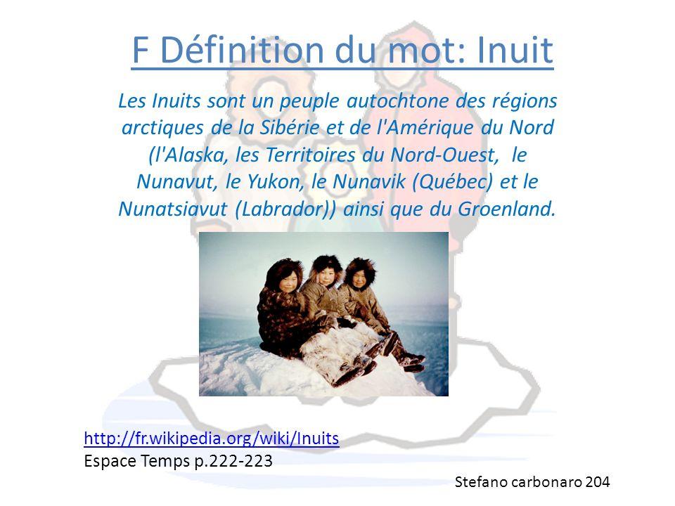 F Définition du mot: Inuit