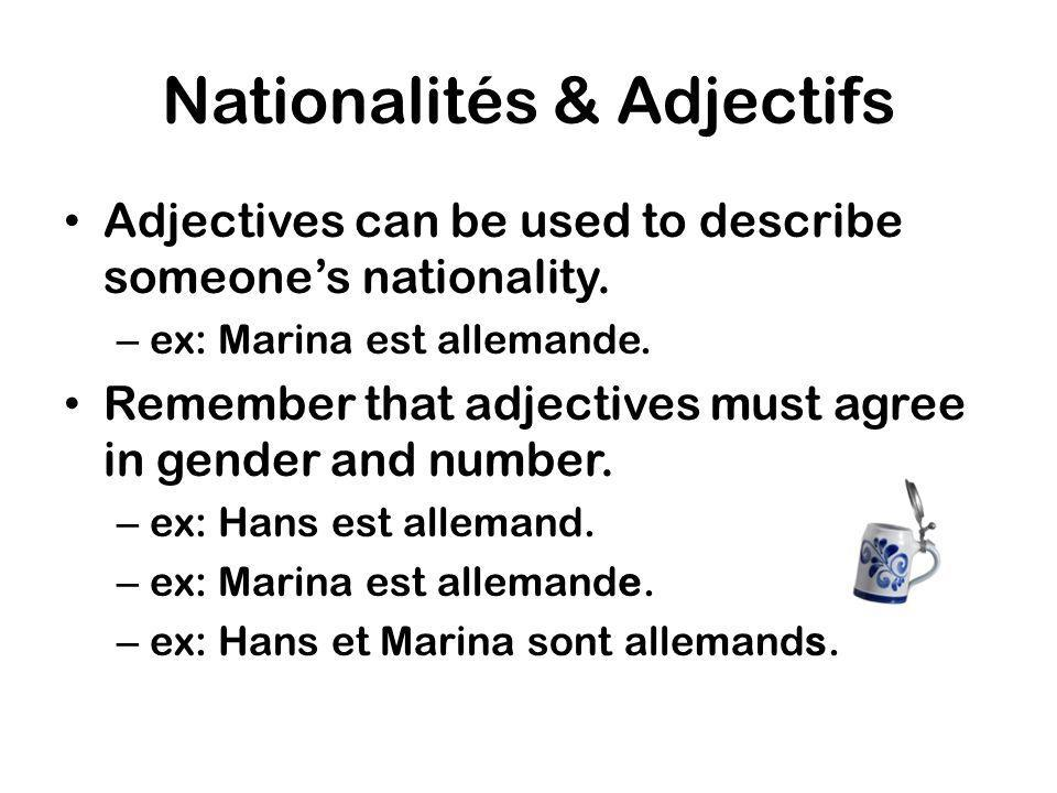 Nationalités & Adjectifs