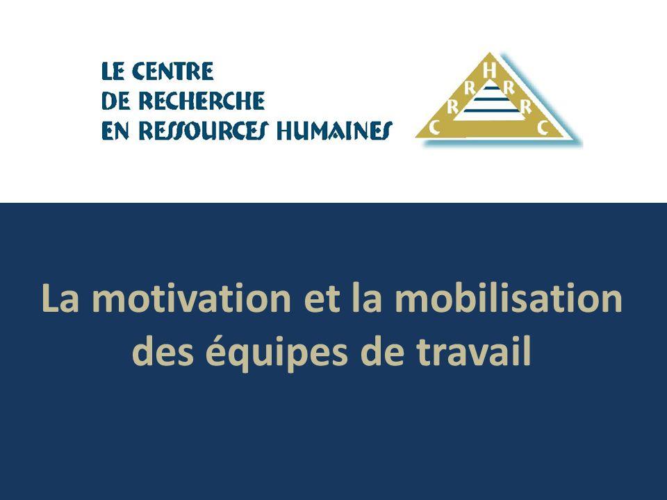 La motivation et la mobilisation des équipes de travail