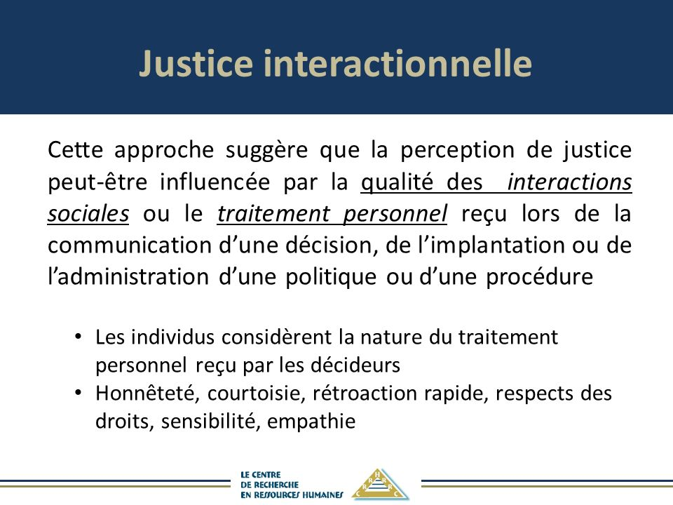 Justice interactionnelle
