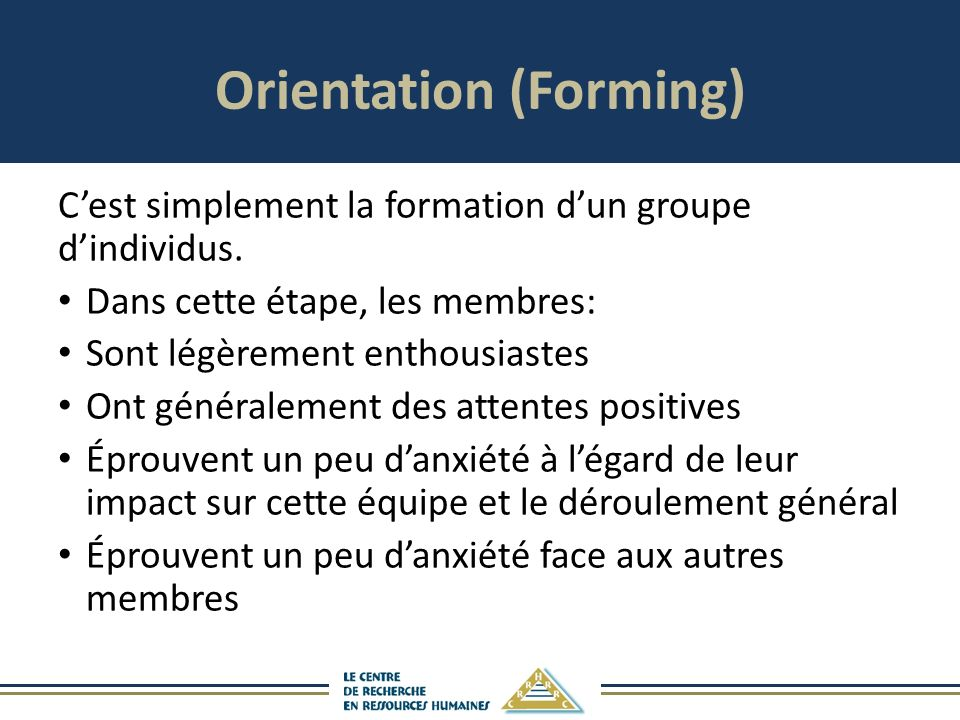 Orientation (Forming)