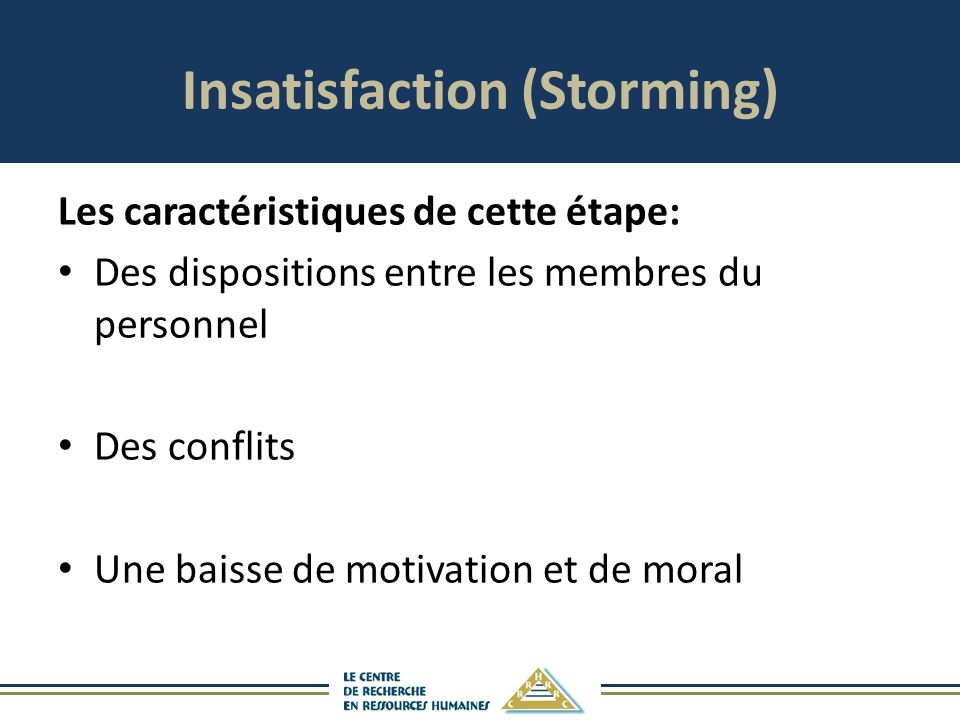 Insatisfaction (Storming)