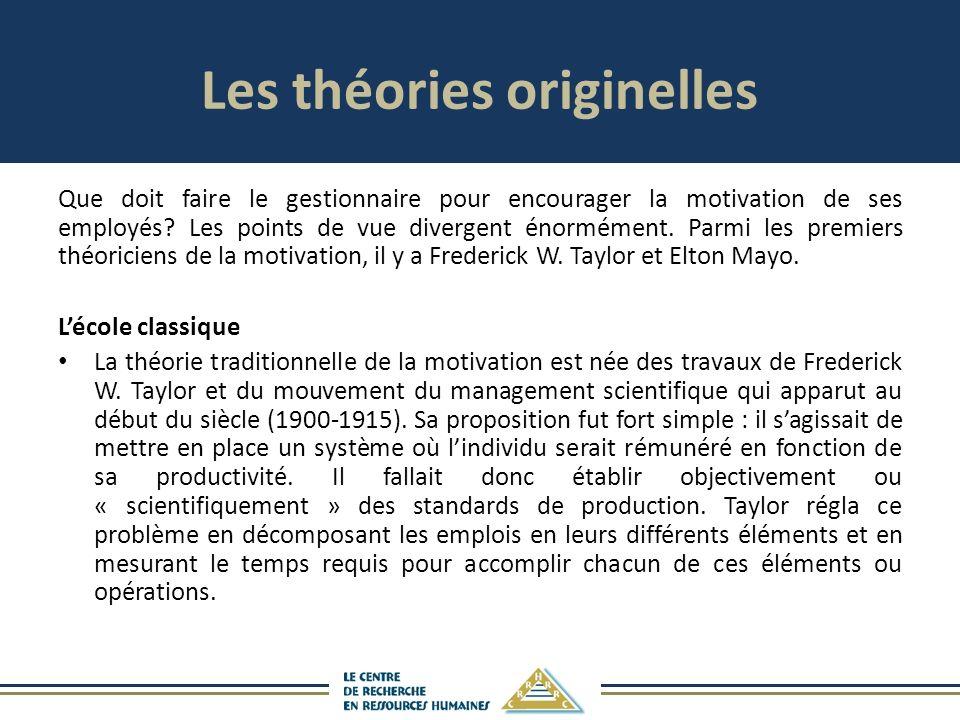 Les théories originelles