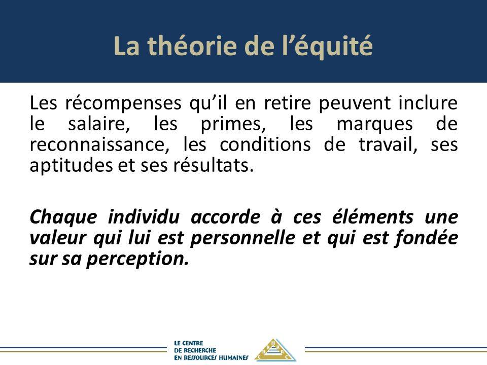 La théorie de l'équité