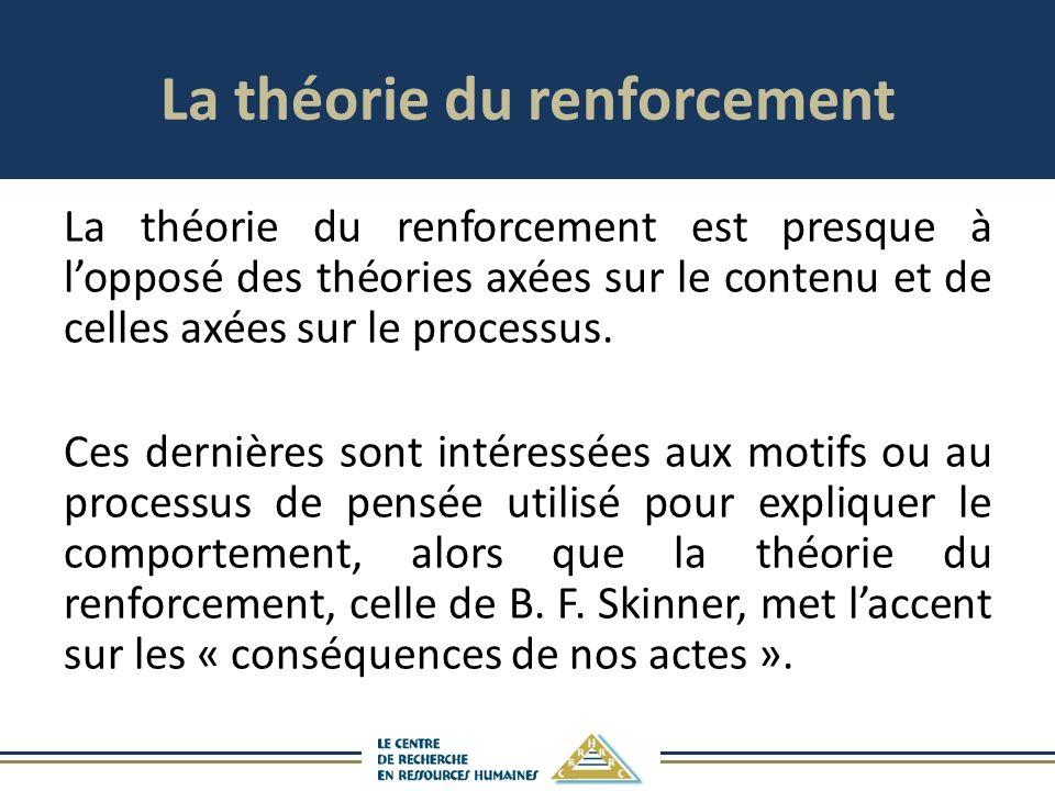 La théorie du renforcement