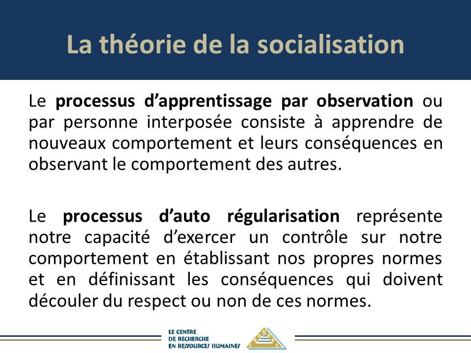 La théorie de la socialisation