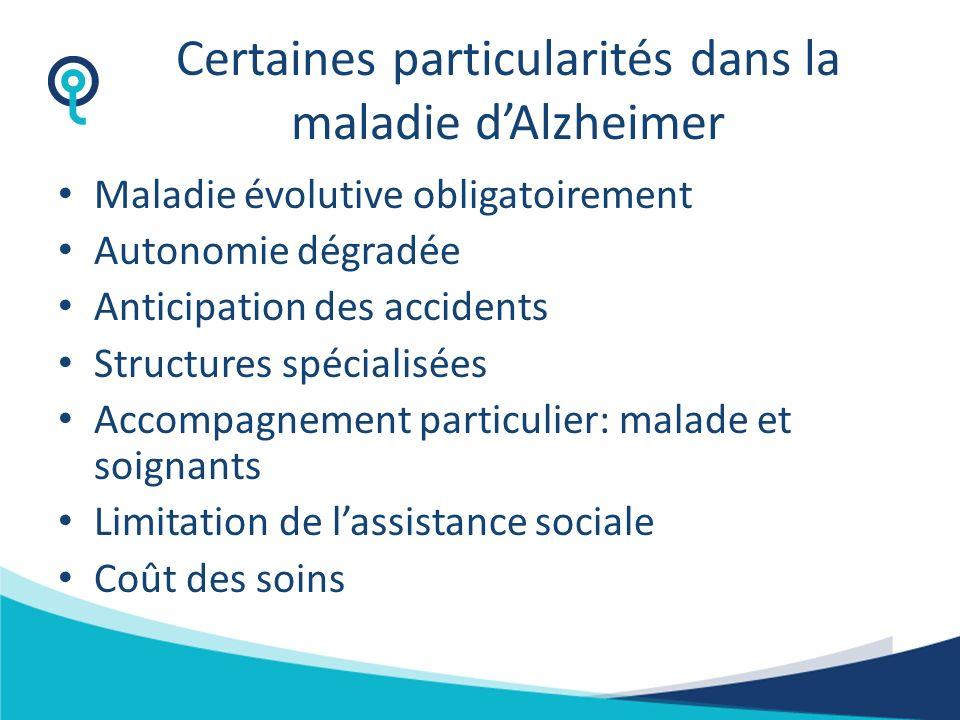 Certaines particularités dans la maladie d'Alzheimer