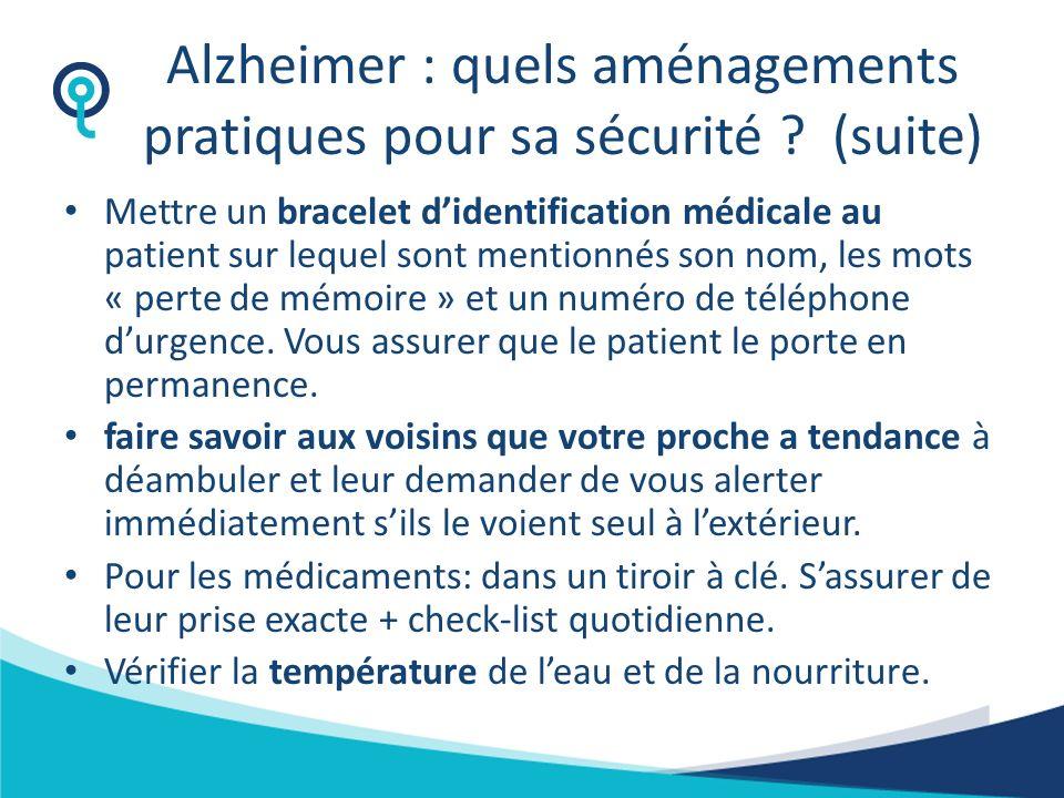 Alzheimer : quels aménagements pratiques pour sa sécurité (suite)