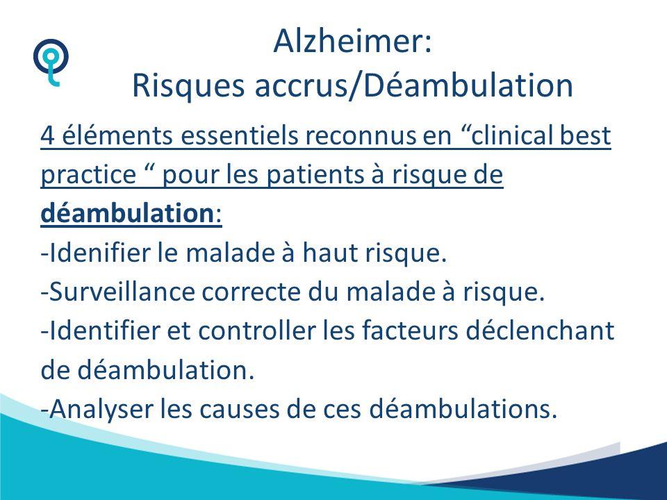 Alzheimer: Risques accrus/Déambulation