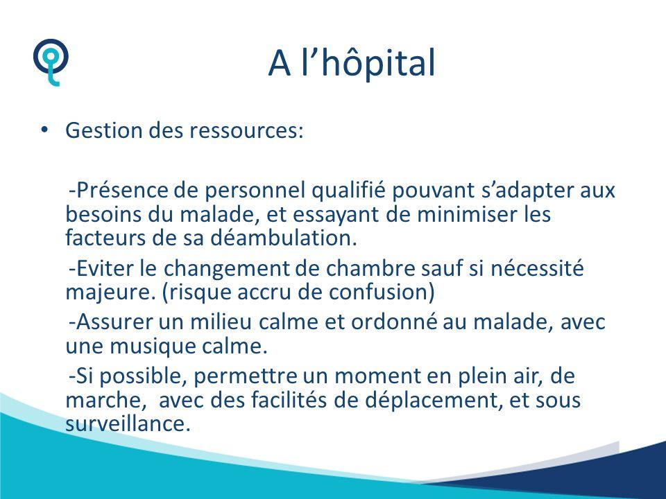 A l'hôpital Gestion des ressources: