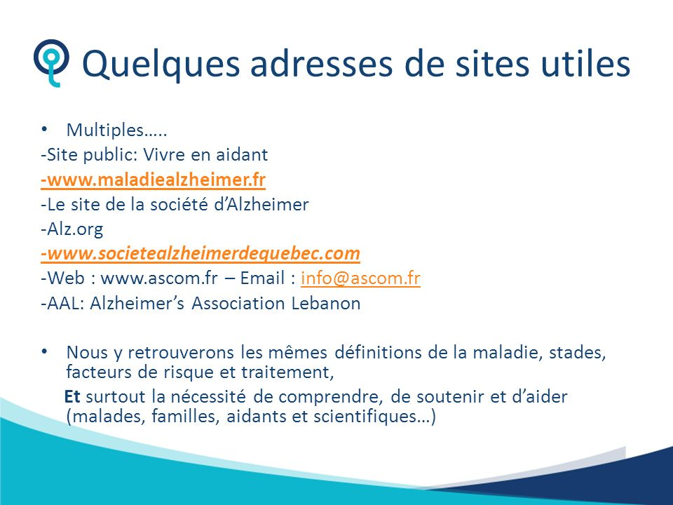 Quelques adresses de sites utiles