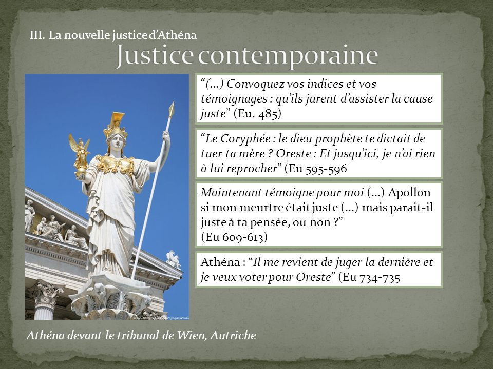 Justice contemporaine