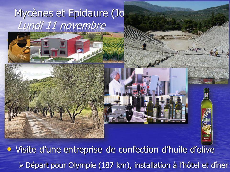 Mycènes et Epidaure (Jour2) Lundi 11 novembre