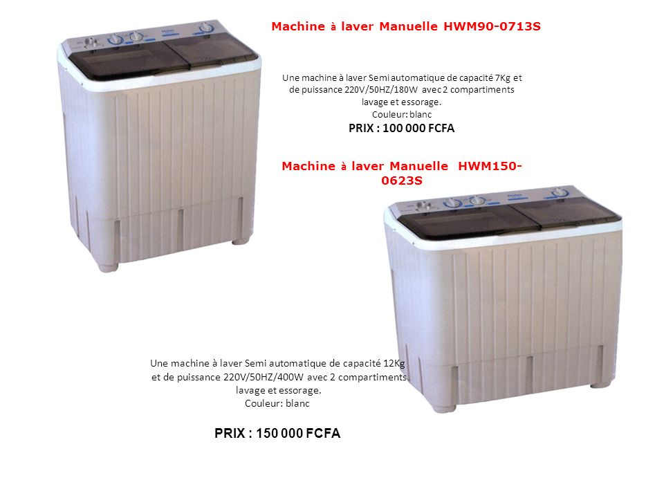 Machine à laver Manuelle HWM90-0713S