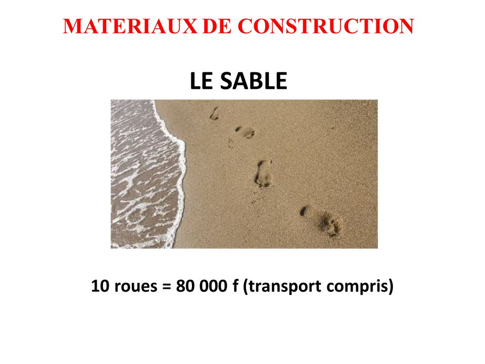 MATERIAUX DE CONSTRUCTION