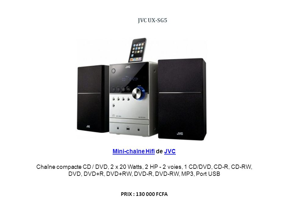 Mini-chaîne Hifi de JVC