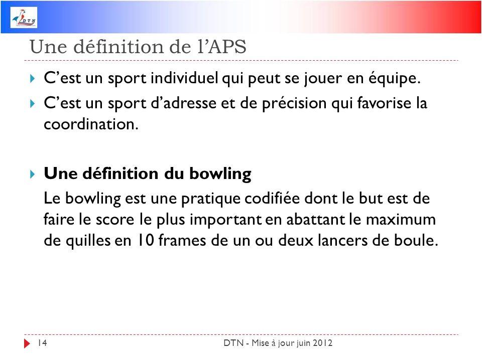 Une définition de l'APS