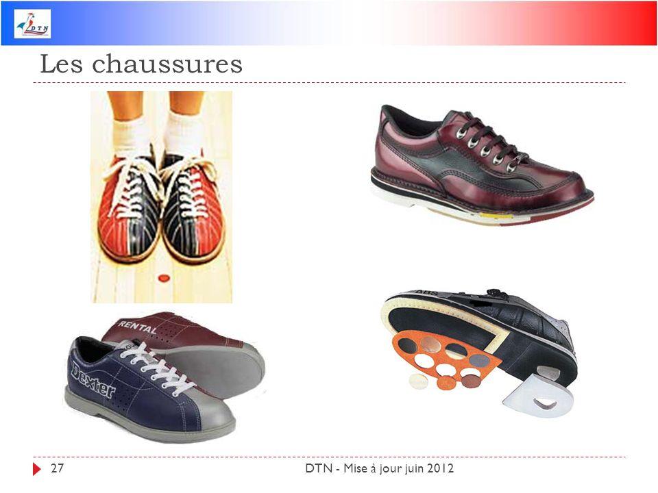 Les chaussures DTN - Mise à jour juin 2012