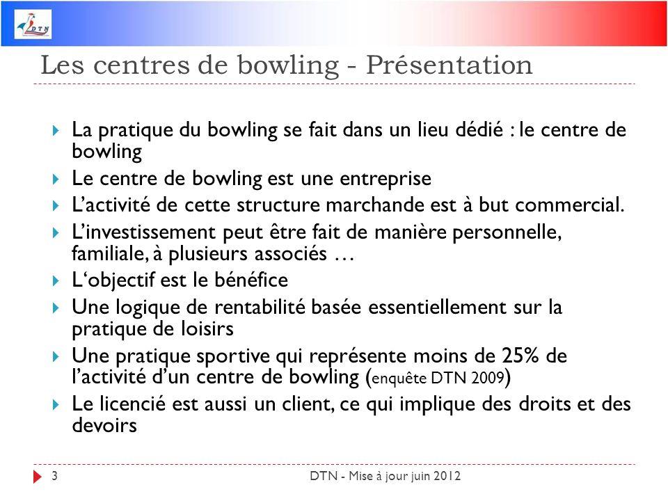 Les centres de bowling - Présentation